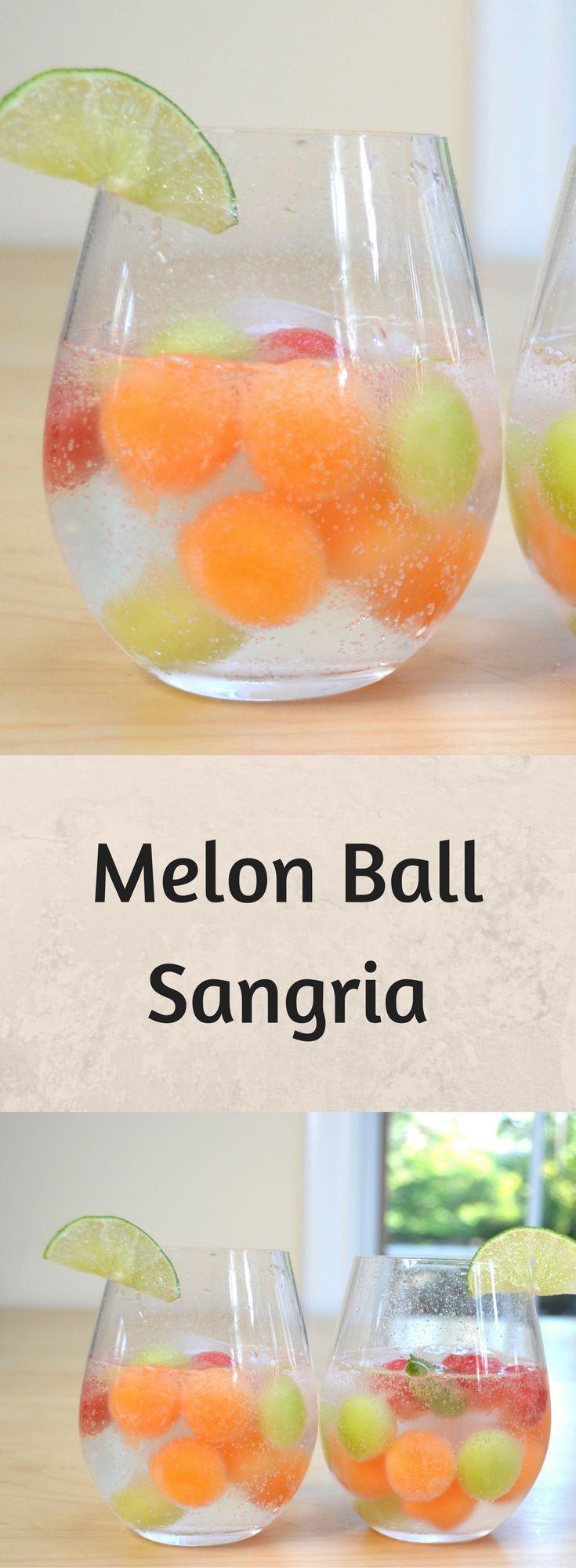 Melon Ball Sangria looks amazing and it tastes so good!  You'll love this Melon Ball Sangria - the best-looking drink and it's so easy to make!