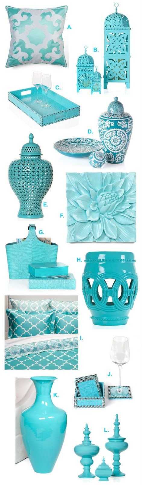 Turquoise home decor accessories interior design for Home decor accessories