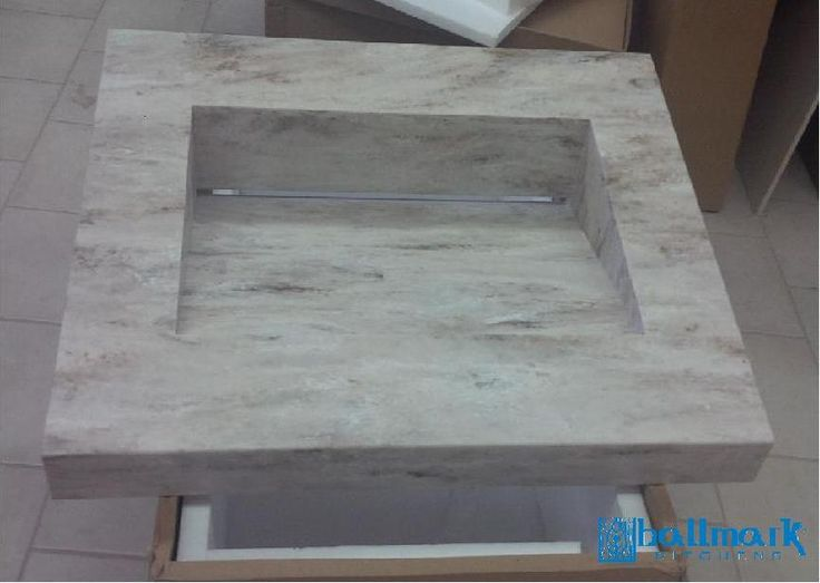 Corian trough style sink - Sandlewood