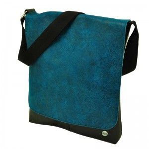 Made in Barrio - Corazon - Elegant small shoulder bag from inner tyre and eco leather - blue