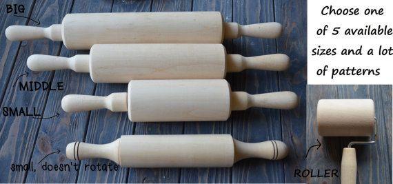 VENDITA Folk fiorito modello Mattarello in legno incisa STAMPA