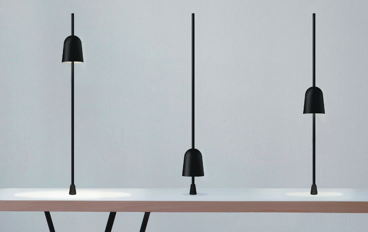 """Ascent lamp, design by Daniel Rybakken for Luceplan. Category Design for living. Compasso d'oro for """"the semplicity and the beutyness of a single move that calibrates intensity and width of light"""""""