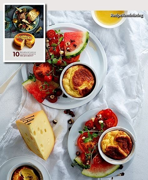 Cheese Suffle with Tomato and Watermelon Salad / Ostesufflé med Tomat- og Vannmelonsalat