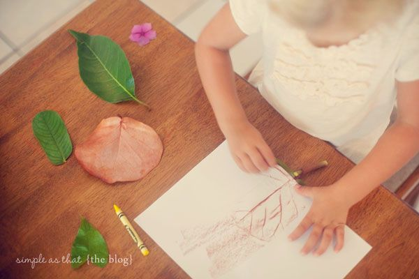 friday craft day: fun with leaves - simple as that