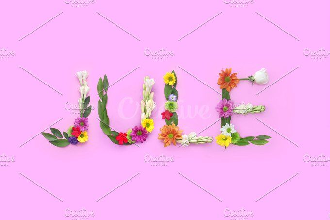 Jule - FLowers composition  by Trefilova Anna on @creativemarket