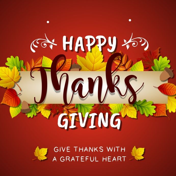 Rust Thanksgiving Greetings Instagram Image In 2020 Thanksgiving Poster Thanksgiving Greetings Personalized Thank You Cards
