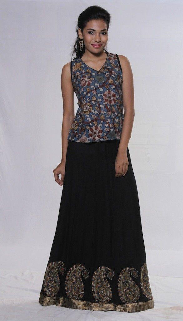 A Kalamkari Skirt and Top Set - perfect for Summer days or nights