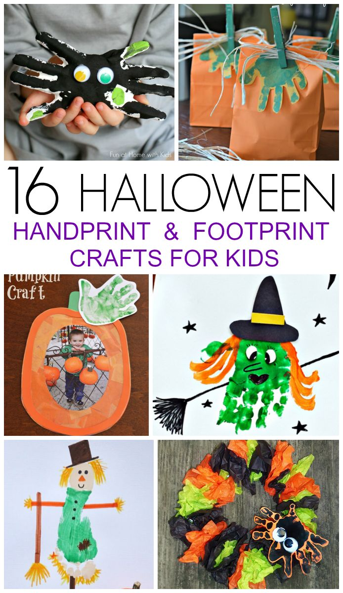 halloween handprint and footprint art 16 handprint and footprint crafts preserve 6671