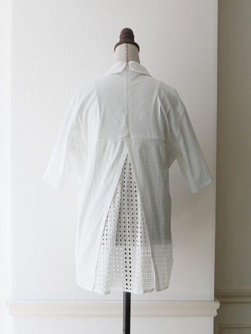 【Back lace shirt】レディース レース シャツ