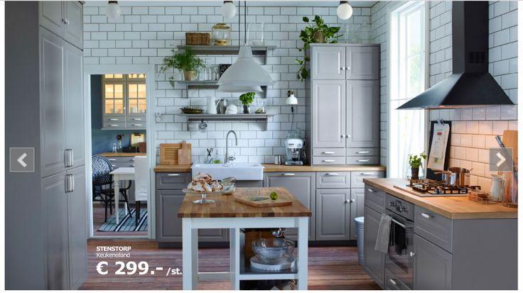 Blauwgrijze keuken