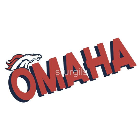 Omaha broncos football in denver shirts and bumper stickers