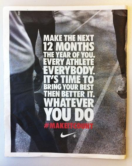Nike Press Ad. #Nike #Ads. 12 MonthsNike QuotesNike Inspirational QuotesNike  Fitness QuotesMotivational ...