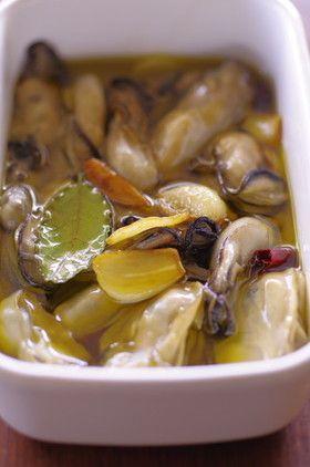 <常備菜>牡蠣のオイル漬け