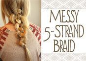 How To Do A Superbly Messy 5-Strand Braid , Take your hair to the next level with this perfectly messy 5-strand braid tutorial! Use our easy 'how to' guide to get your own beautiful 5-strand braid! , Admin , http://www.listdeluxe.com/2017/07/11/how-to-do-a-superbly-messy-5-strand-braid/ ,  #5-StrandBraidGuide-HowtoDoaPerfectlyMessy5-StrandBraid, , How To Do A Superbly Messy 5-Strand Braid