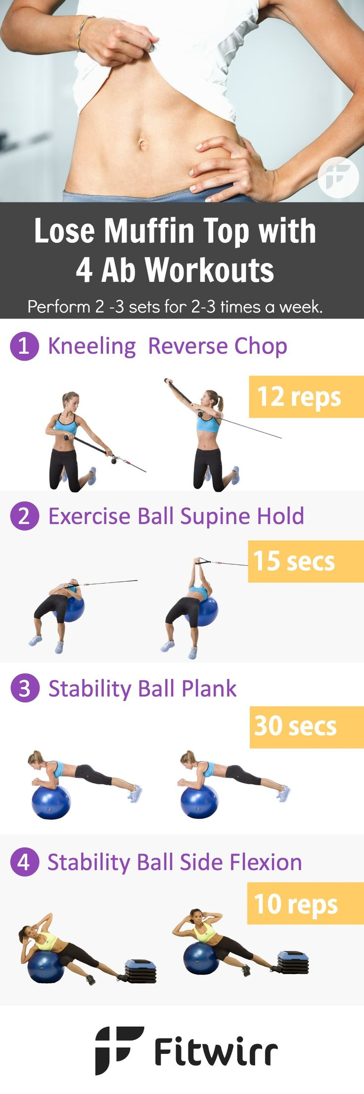 Lose your love handles and tone your abs while strengthen your core with these 4 best lower ab exercises. No need to cover up this summer. Start working on your bikini body now.