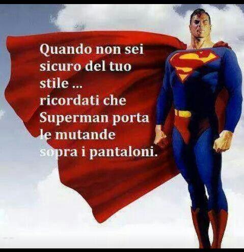 Frasi divertenti -Certo che Superman ha un'originalità da fare invidia a tutti xD