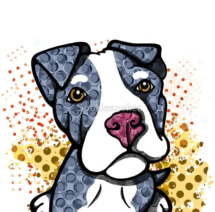 Blue Pit Bull Puppy Graphic