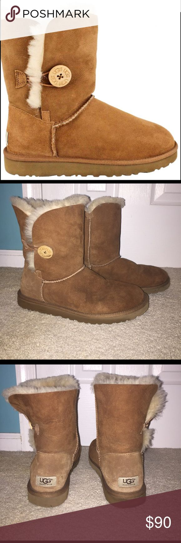 Chestnut UGGS Bailey button chestnuts uggs UGG Shoes Winter & Rain Boots