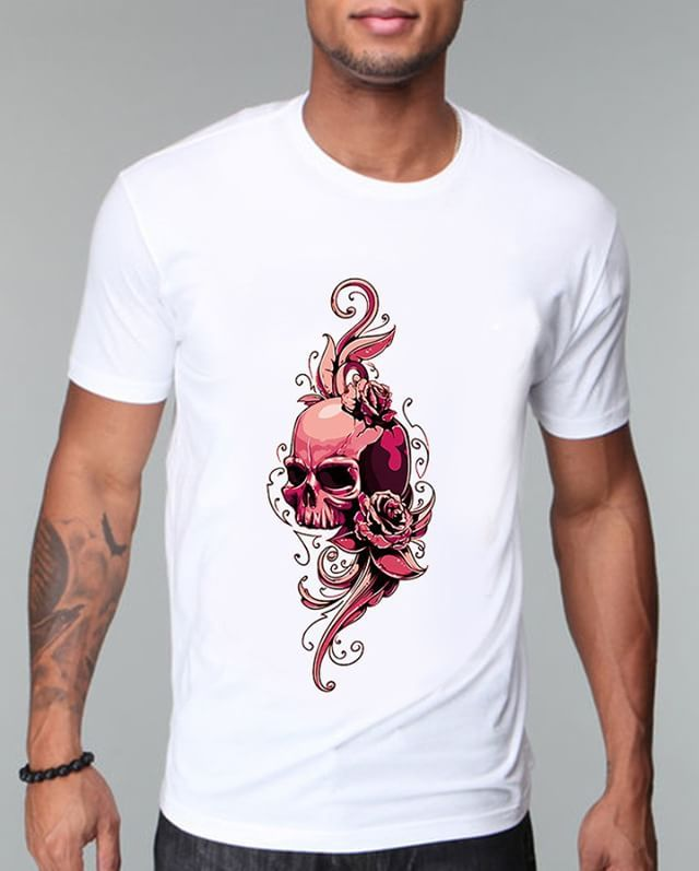 https://www.navdari.com/products-m00272-PINKSKULLANDFLORALDESIGNTSHIRT.html #pinkskull #pink #floral #TSHIRT #CLOTHING #Men #NAVDARI