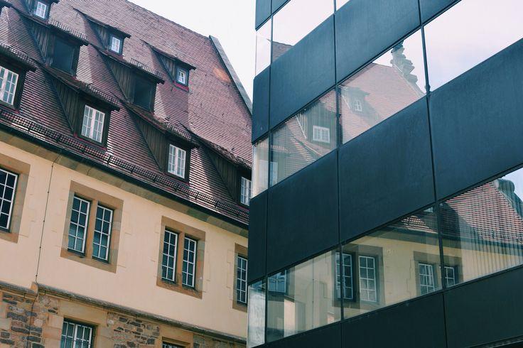 old&new , stuttgart,houses,city