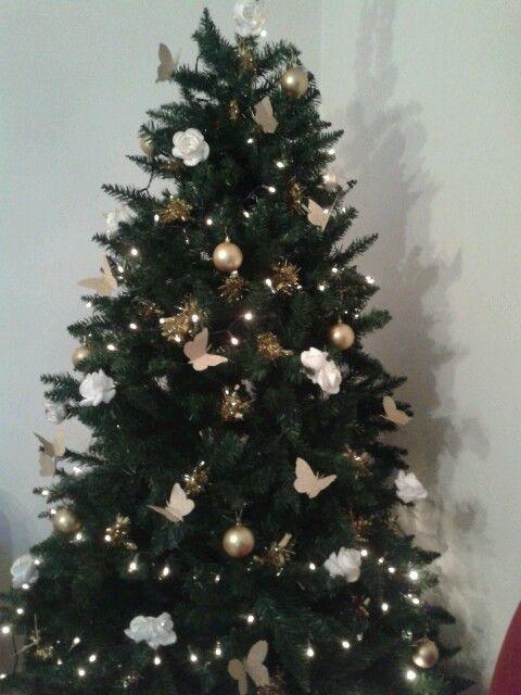 albero di natale con farfalle