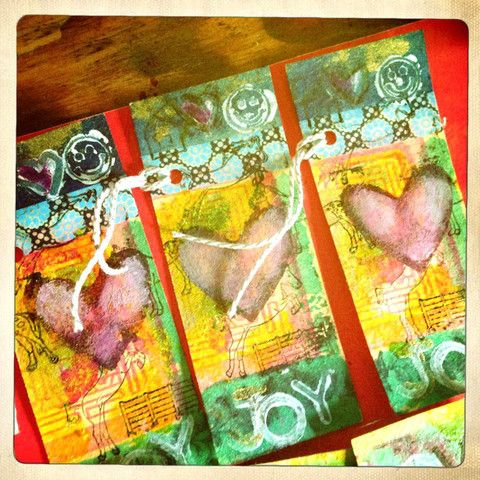 joy and heart gift tags