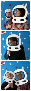 """Astronaut helmets for photos taken in beginning of year. Theme """"out of this world"""""""