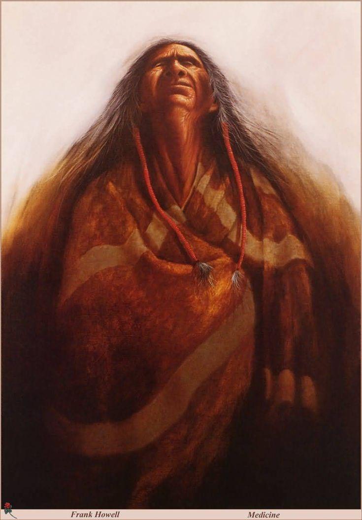 Medicine by Frank Howell (1937 – 1997),Lakota Sioux