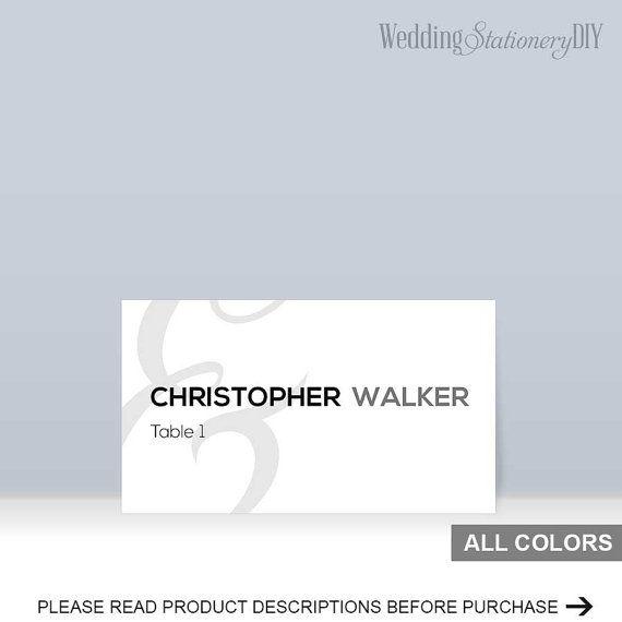 Mod wedding Place card printable template by WeddingstationeryDIY