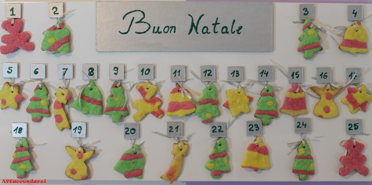 tutorial: how to make the advent calendar with magnets and Christmas cookies