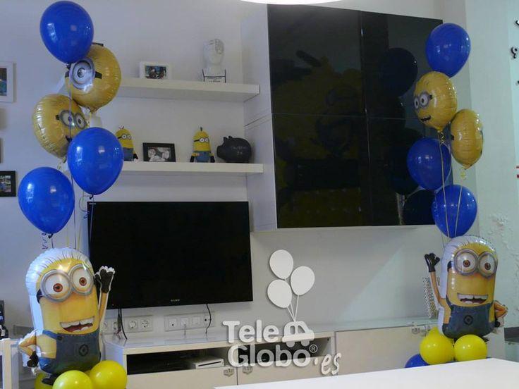 Decoraci n con globos para cumplea os con minions - Decoracion cumpleanos infantiles ...