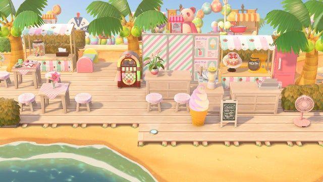 Beachside Dessert Bar Animalcrossing Animal Crossing Wild World Animal Crossing Guide Animal Crossing