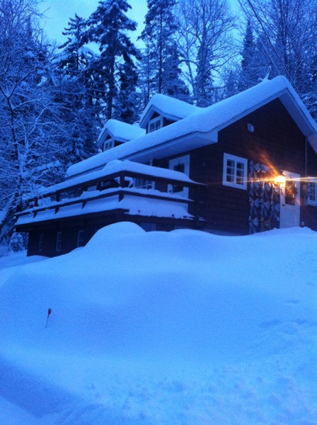 Snowy night at the cabin!