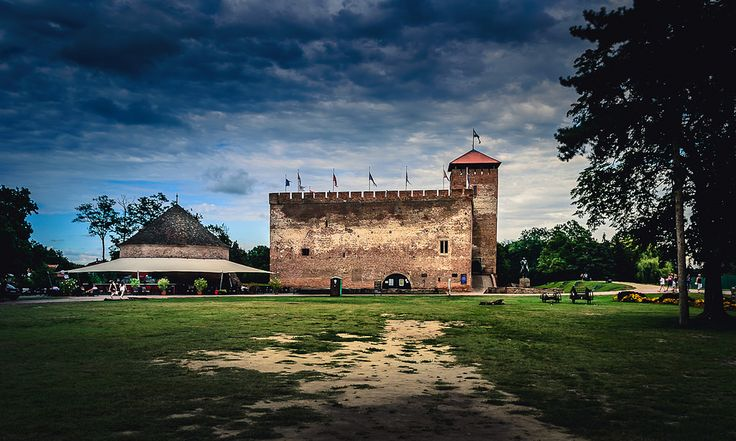 The medieval fortress of Gyula in the summer