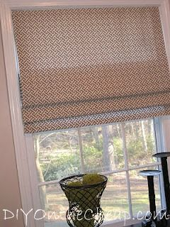 """DIY On the Cheap: DIY """"On the Cheap"""": An Introduction & No-Sew Roman Shade"""
