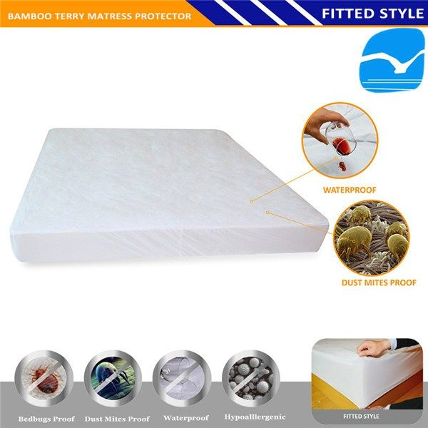 Polyester Zipped Waterproof Medical Bed Cover Mattress In Sabah