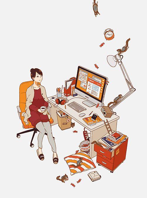 "ukilog: "" 実務教育出版『受験ジャーナル 28年度試験対応 Vol.2』 I drew the cover illustration for a magazine published by JITSUMUKYOIKU-SHUPPAN. """