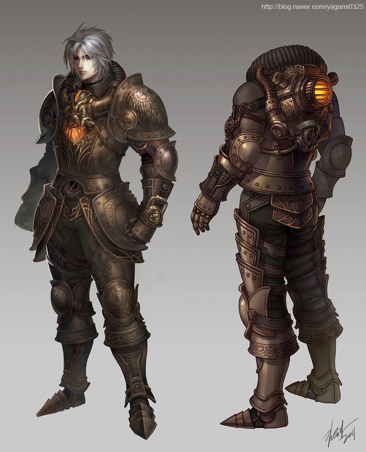 steampunk fantasy character design -1 by *GoddessMechanic on deviantART