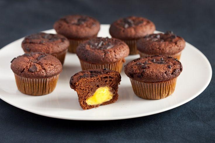 Czekoladowe muffiny z adwokatowym kremem w środku, Lauretta, Nasze przepisy