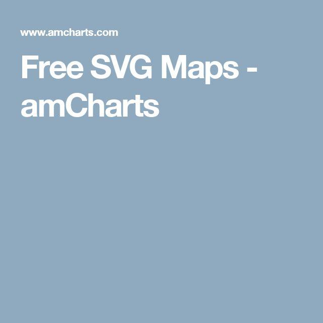 Free SVG Maps amCharts Graphic Design Tools Pinterest Maps