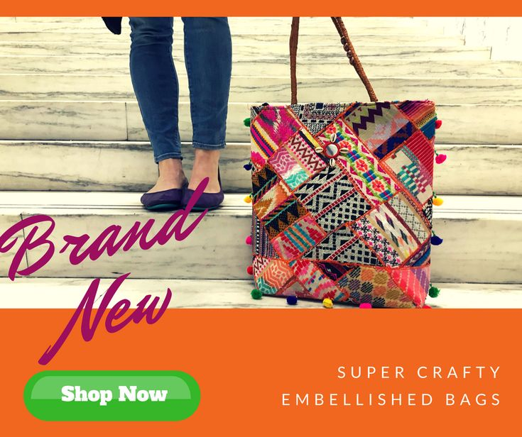 Embrace your crafty side with one of the fun and one-of-a-kind bags