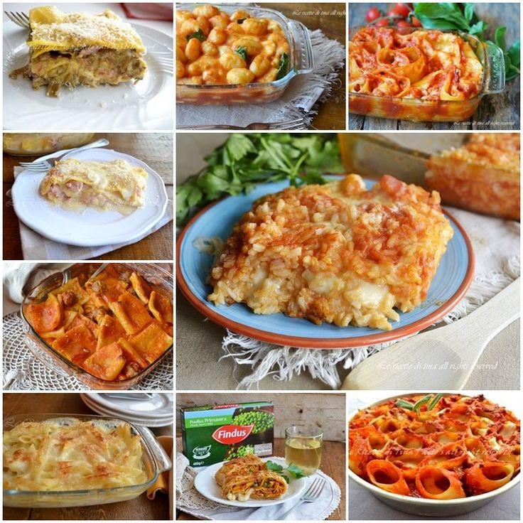Piatti di pasta al forno