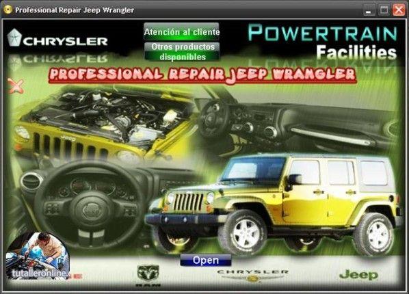Manual De Taller Y Reparacion Jeep Wrangler Jk 2007 2010 En 2020
