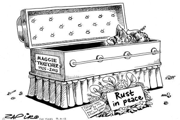 Zapiro: Rust in peace, Margaret Thatcher