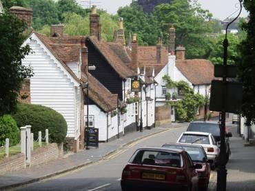 View of St. Michael's Street and village, St. Albans, Hertfordshire, England