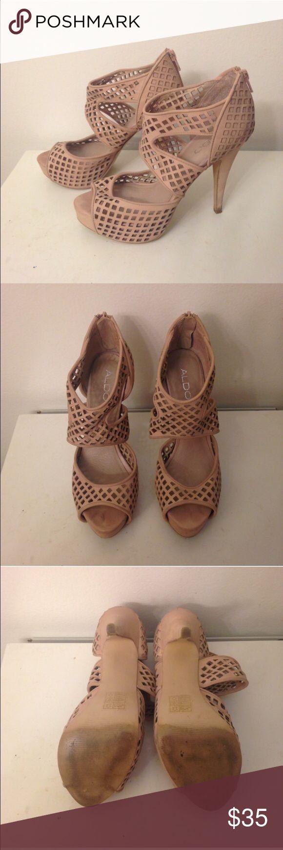 Aldo blush colored heels in sz 8 - worn Aldo blush colored heels in sz 8 - worn Aldo Shoes Heels