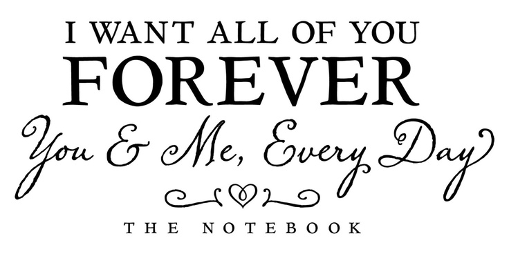 Wall Vinyl Quote  I Want All of You Forever Quote by aubreyheath, $32.00