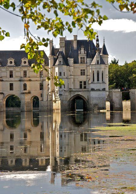 en el castillo de Chenonceau (Loira, Francia)
