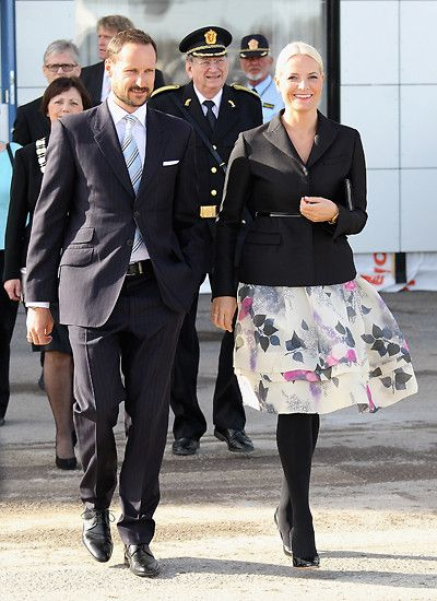 20th March 2012: Prince Haakon and Princess Mette-Marit of Norway are On Their Way to Prince Charles and Duchess Camilla to welcome in Oslo.