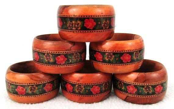 Prachtige antieke Set van Servet ringen zes servet ringen